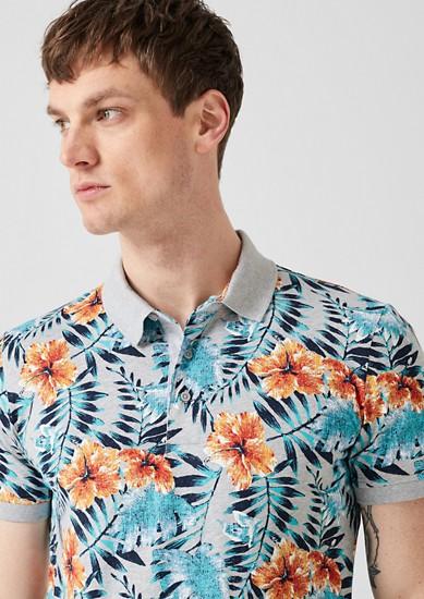 Poloshirt mit Tropical Print