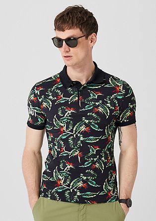 polo majica s tropskim potiskom