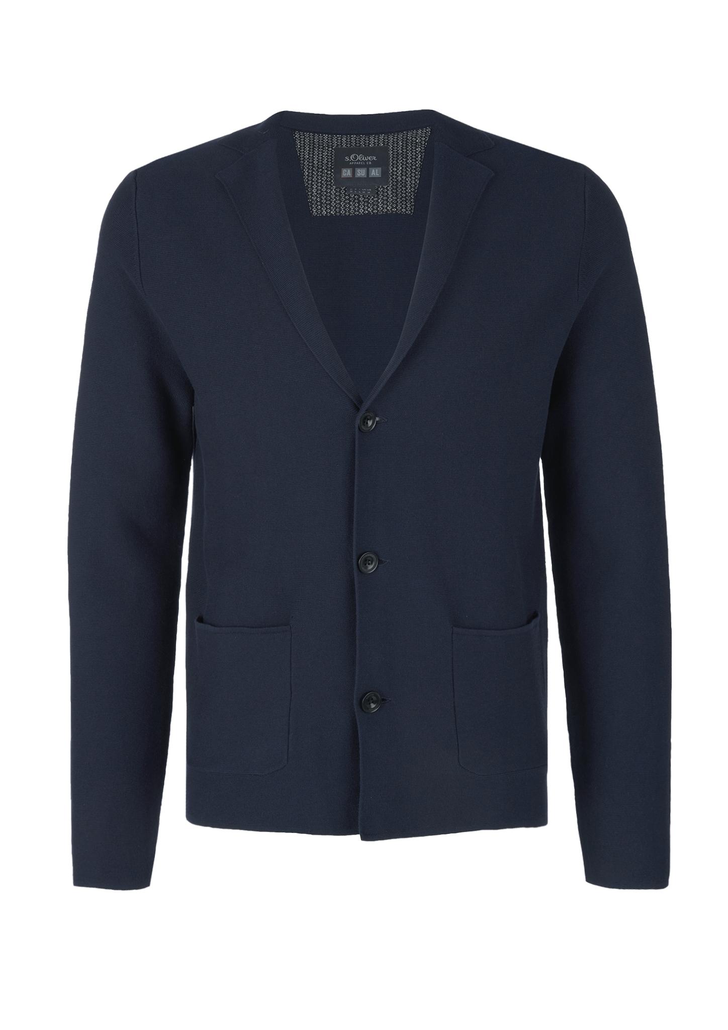 Strickjacke   Bekleidung > Strickjacken & Cardigans > Strickjacken   Blau   100% baumwolle   s.Oliver