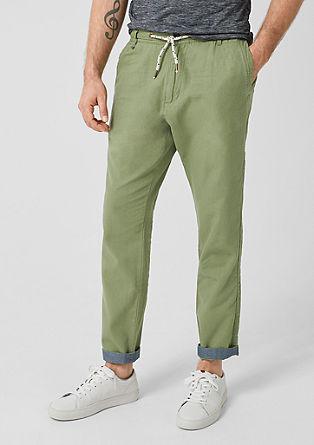 Tubx jogger: casual linnen broek