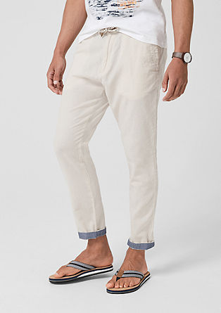 Tubx Jogger: Casual linen trousers from s.Oliver