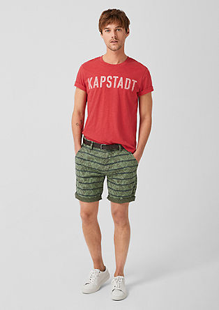 Plek Loose: Gemusterte Chino-Shorts
