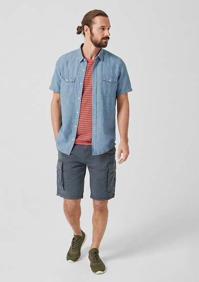 Slim: Leichtes Hemd aus Leinenmix