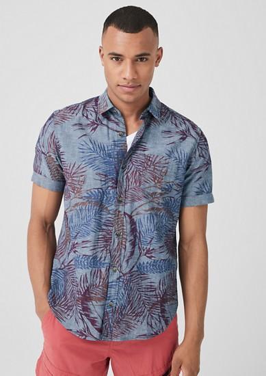 Regular: Hemd mit Alloverprint