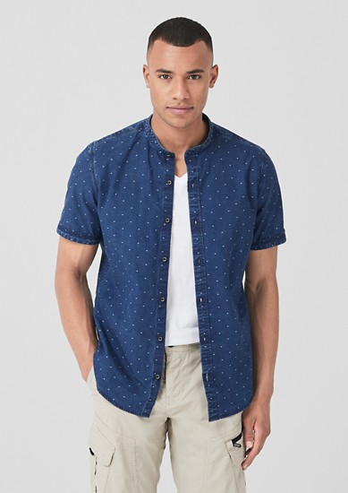 Slim: denim-look shirt from s.Oliver