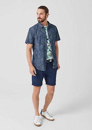 Slim: Baumwollhemd mit Print
