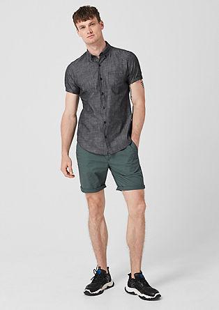 Slim: katoenen overhemd met print