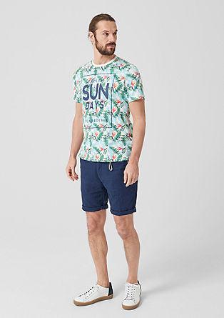 Majica iz džersija s poletnim potiskom