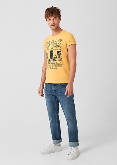Slim: T-Shirt mit Vegas-Print
