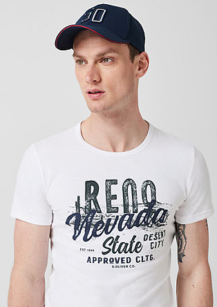 Slim: srajca iz džersija z vintage potiskom