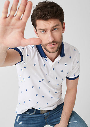 Polo shirt with a print pattern from s.Oliver