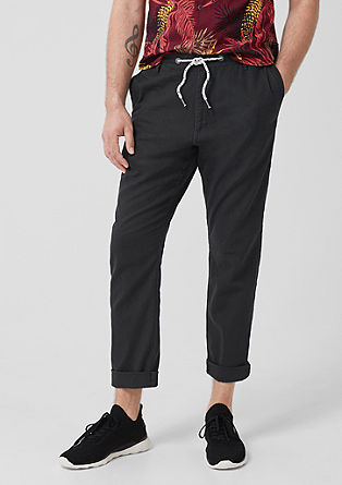 Tubx Jogger: Casual blended linen trousers from s.Oliver