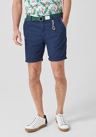 Plek Chino Loose: Linen Bermudas from s.Oliver