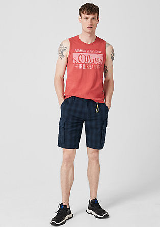 Plek Loose: Check cargo shorts from s.Oliver