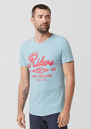 Slim: T-Shirt mit Retro-Print