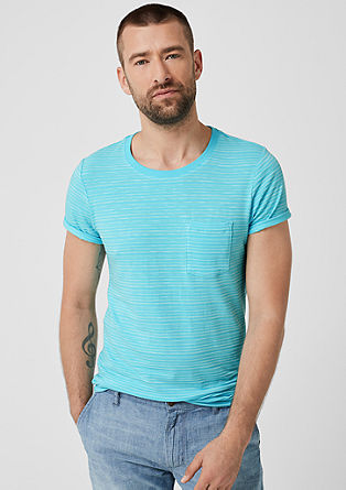 Slim: Striped jersey top from s.Oliver