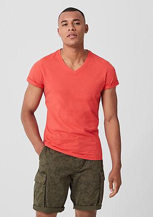 Slim: basic V-neck tee from s.Oliver