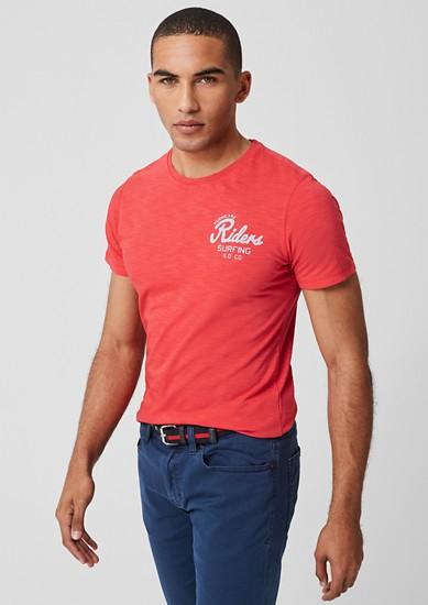 Slim: Flammgarnshirt mit Print