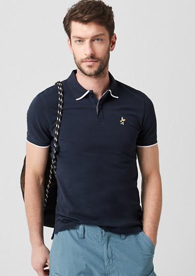 Slim: Poloshirt mit Surfer-Stitching