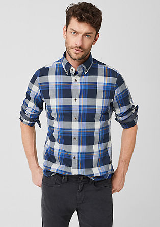 Slim: Shirt with colourful checks from s.Oliver