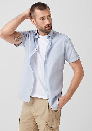 Slim: shirt with a minimal pattern from s.Oliver