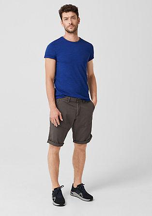 Slim: Meliertes Shirt mit Print