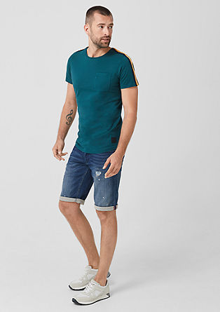 Slim: T-shirt with striped tape from s.Oliver