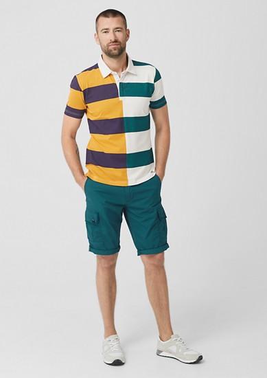 Poloshirt mit Colourblock-Streifen