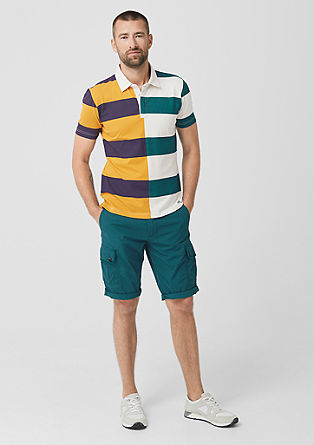 Polo shirt with colour block stripes from s.Oliver