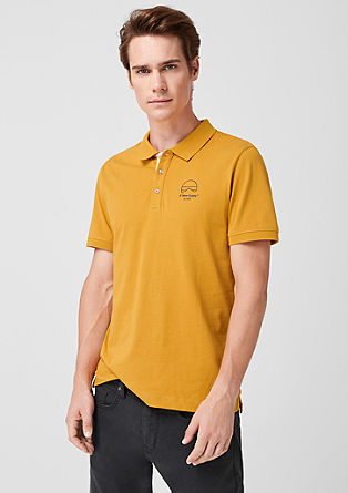 Jersey top with a polo collar from s.Oliver