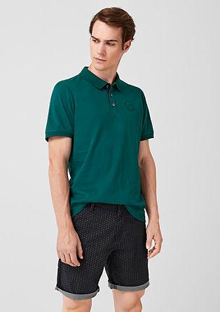 Jerseyshirt mit Polokragen