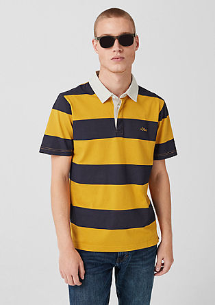 Polo shirt with block stripes from s.Oliver