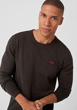 Gebreide trui met ronde hals