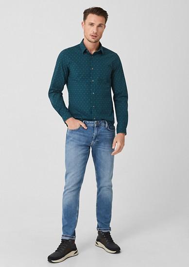 Slim: chemise en coton à motif de s.Oliver