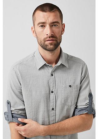 Regular: overhemd met de structuur van dobby