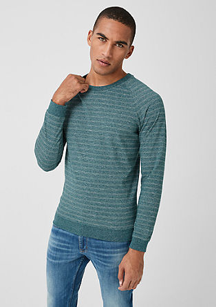 Long sleeve top with stripes from s.Oliver