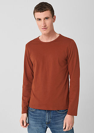 Slim: cotton jersey long sleeve top from s.Oliver