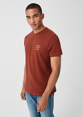 T-Shirt mit Strukturstreifen