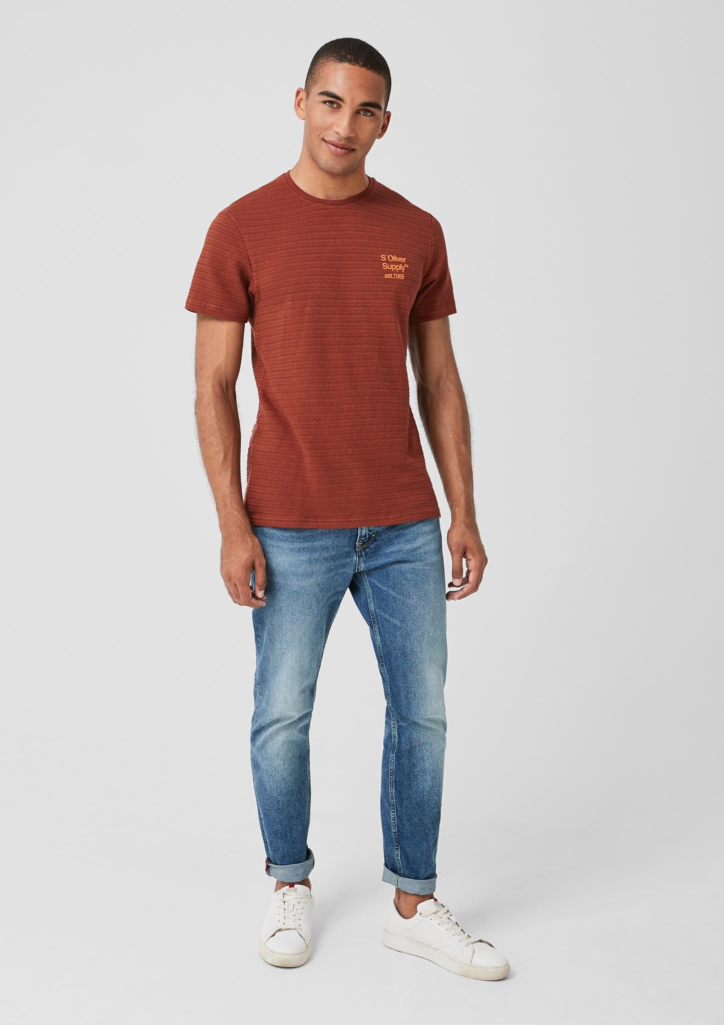 s-Oliver-Casual-Men-T-Shirt-mit-Strukturstreifen-Neu Indexbild 15