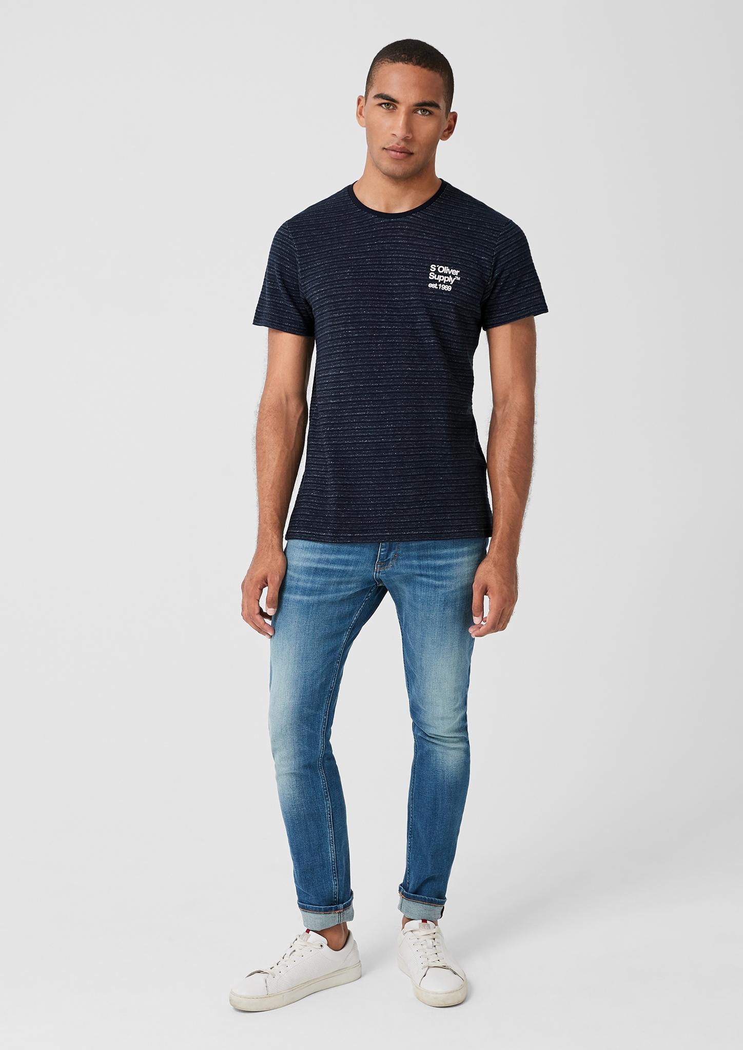 s-Oliver-Casual-Men-T-Shirt-mit-Strukturstreifen-Neu Indexbild 9
