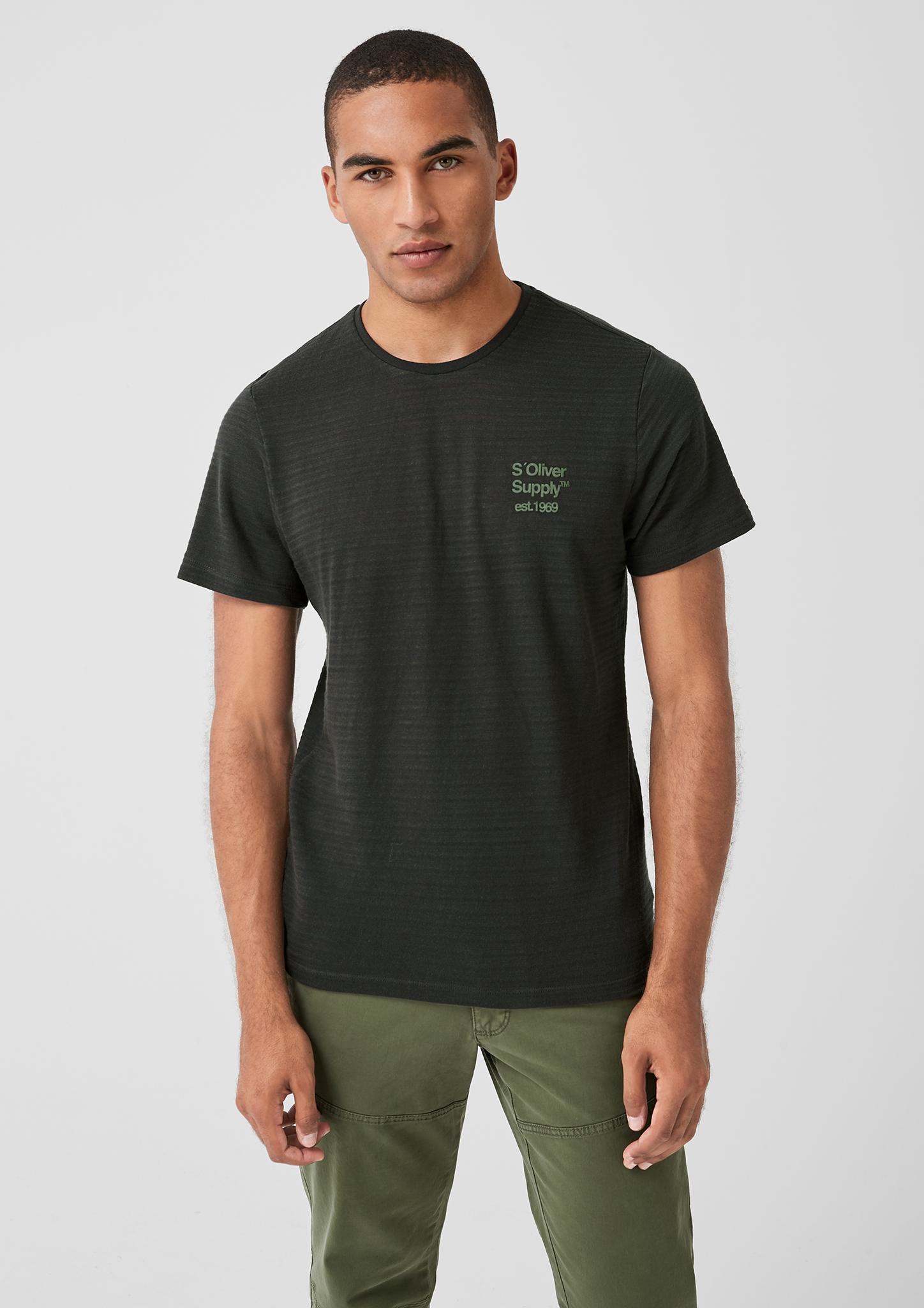 s-Oliver-Casual-Men-T-Shirt-mit-Strukturstreifen-Neu Indexbild 4