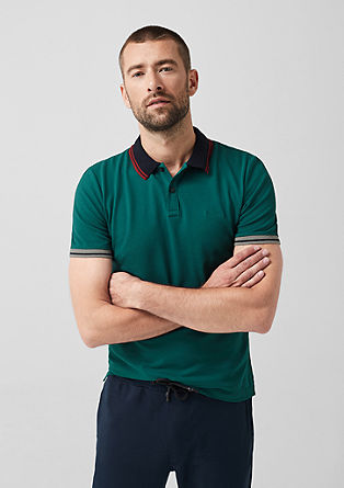 Slim: Polo shirt with contrasting details from s.Oliver