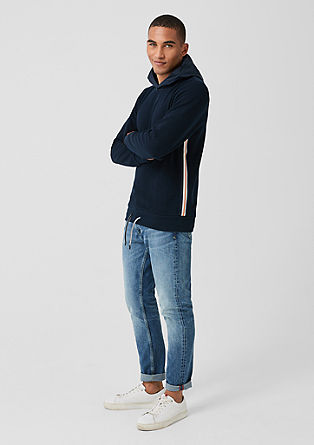 Pullover mit Nylon-Kapuze