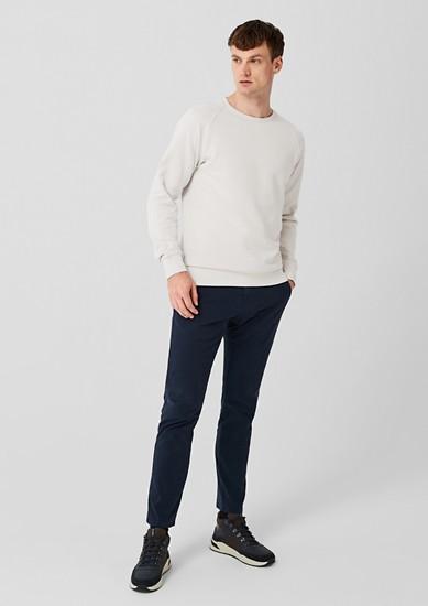 Baumwollsweatshirt mit Crew Neck