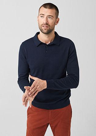 Pletený pulovr s polokošilovým límcem