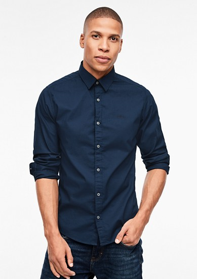 Slim: plain cotton shirt from s.Oliver