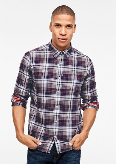 Slim: check flannel shirt from s.Oliver