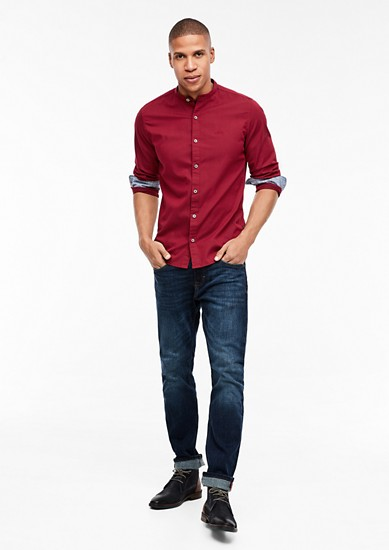 Slim: shirt with a stand-up collar from s.Oliver