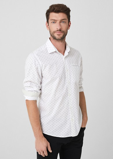 Regular: patterned chambray shirt from s.Oliver
