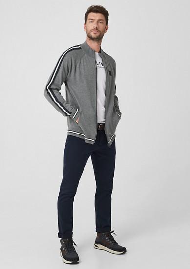 Sportiver Cardigan mit Streifen
